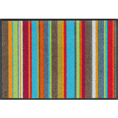 Kleen-Tex wash + dry doormat | Stripes Multi | ... washable mat with rubber edge!