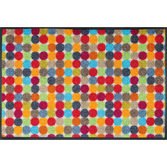 Kleen-Tex wash + dry doormat   Mikado Dots   ... washable mat with rubber edge!