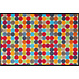 Kleen-Tex wash + dry doormat | Mikado Dots | ... washable mat with rubber edge!