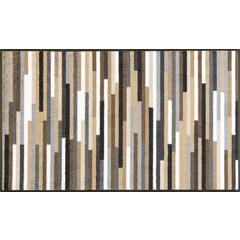 Kleen-Tex wash+dry  Fußmatte | Mikado Stripes Nature |  ...waschbare Matte mit Gummirand!