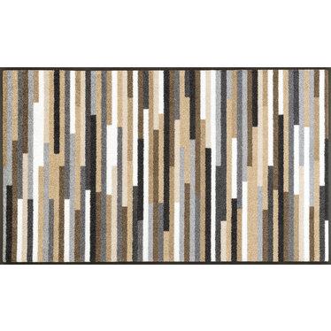 Kleen-Tex wash+dry  Fußmatte | Mikado Stripes Nature|  ...waschbare Matte mit Gummirand!
