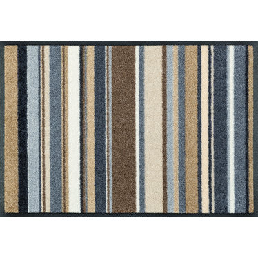 Kleen-Tex wash + dry doormat | Stripes Nature | ... washable mat with rubber edge!