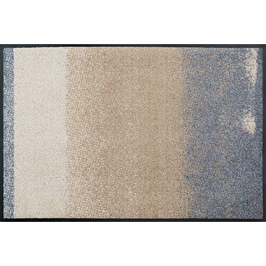 Kleen-Tex wash + dry doormat | Medley Beige | ... washable mat with rubber edge!