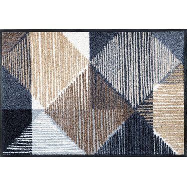 Kleen-Tex wash + dry doormat | Lines and Boxes | ... washable mat with rubber edge!