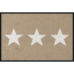 Kleen-Tex wash + dry doormat | Stars Sand | ... washable mat with rubber edge!