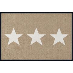 Kleen-Tex wash+dry  Fußmatte | Stars Sand |  ...waschbare Matte mit Gummirand!