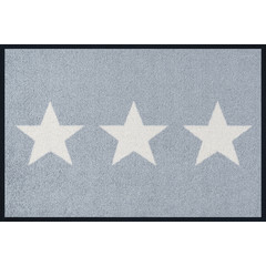 Kleen-Tex wash + dry doormat | Stars Gray | ... washable mat with rubber edge!