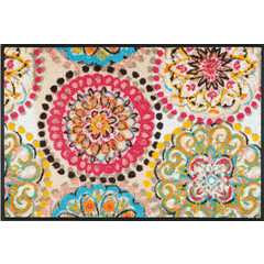 Kleen-Tex wash + dry doormat | Vintage fresco | ... washable mat with rubber edge!