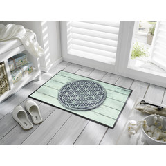 Kleen-Tex wash + dry doormat | Pattern of Life | ... washable mat with rubber edge!
