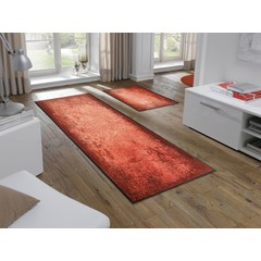 Kleen-Tex wash + dry doormat | Shades of Red | ... washable mat with rubber edge!