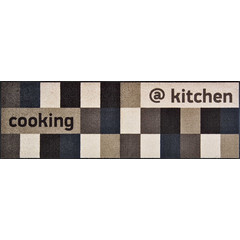 Kleen-Tex wash + dry doormat | @Kitchen Brownish | ... washable mat with rubber edge!
