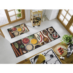 Kleen-Tex wash + dry doormat   Hot Spices   ... washable mat with rubber edge!