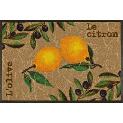 Kleen-Tex wash+dry  Fußmatte | Le Citron |  ...waschbare Matte mit Gummirand!