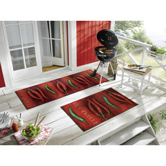 Kleen-Tex wash + dry doormat | Hot Chilli | ... washable mat with rubber edge!