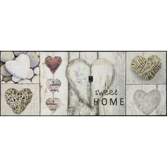 Kleen-Tex wash + dry doormat | Vintage Hearts | ... washable mat with rubber edge!