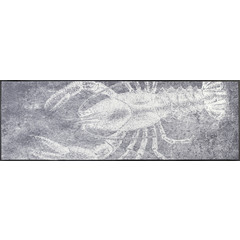 Kleen-Tex wash + dry doormat | Gray Lobster | ... washable mat with rubber edge!