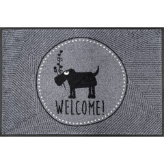Kleen-Tex wash + dry doormat | Mr. Just - Welcome | 50/75 cm | ... washable mat with rubber edge!