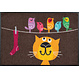 Kleen-Tex wash + dry doormat | Birds on Wire | ... washable mat with rubber edge!