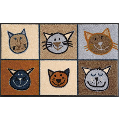 Kleen-Tex wash + dry doormat | Meow Meow | ... washable mat with rubber edge!