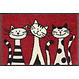 Kleen-Tex wash + dry doormat | Three Cats | ... washable mat with rubber edge!