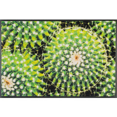 Kleen-Tex wash + dry doormat | Spiny Green | ... washable mat with rubber rim!
