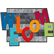 Kleen-Tex wash + dry doormat | Crazy Welcome | ... washable mat with rubber edge!