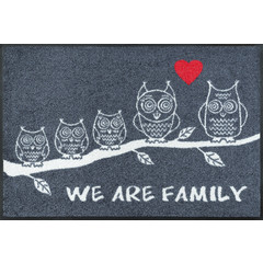 Kleen-Tex wash + dry doormat | We Are Family | ... washable mat with rubber edge!