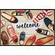 Kleen-Tex wash+dry  Fußmatte   Shoes Welcome   ...waschbare Matte mit Gummirand!