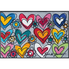 Kleen-Tex wash + dry doormat | With Love All Things Are Possible | ... washable mat with rubber edge!