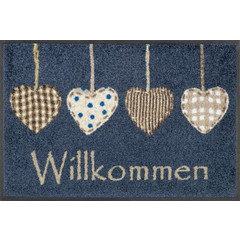 Kleen-Tex wash + dry doormat | Cottage Hearts | ... washable mat with rubber edge!