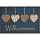 Kleen-Tex wash + dry doormat   Cottage Hearts   ... washable mat with rubber edge!