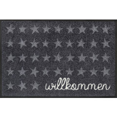 Kleen-Tex wash + dry doormat | Welcome Stars | ... washable mat with rubber edge!