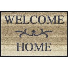 Kleen-Tex wash + dry Fußmatte | Welcome Home beige | ... waschbare Matte mit Gummikante!