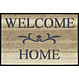 Kleen-Tex wash + dry doormat | Welcome Home beige | ... washable mat with rubber edge!