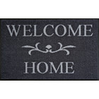 Kleen-Tex wash + dry doormat | Welcome Home anthracite | ... washable mat with rubber edge!