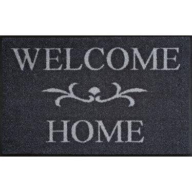 Kleen-Tex wash + dry Fußmatte | Welcome Home anthrazit | ... waschbare Matte mit Gummikante!