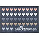 Kleen-Tex wash + dry doormat | Welcome heart | ... washable mat with rubber edge!