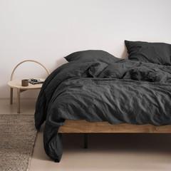 MARC O'POLO  Marc O'Polo bed linen | VALKA anthracite | 100% linen