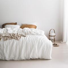 MARC O'POLO  Marc O'Polo bed linen | VALKA white | 100% linen