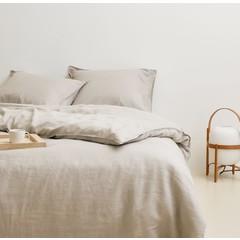 MARC O'POLO  Marc O'Polo bed linen | VALKA oatmeal | 100% linen