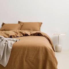 MARC O'POLO  Marc O'Polo bed linen | VALKA warm pecan | 100% linen