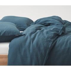 MARC O'POLO  Marc O'Polo bed linen | VALKA indigo blue | 100% linen
