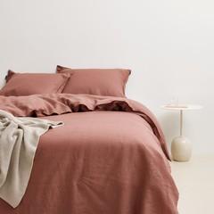MARC O'POLO  Marc O'Polo bed linen | VALKA earth red | 100% linen