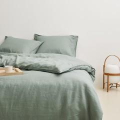 MARC O'POLO  Marc O'Polo bed linen | VALKA smoke green | 100% linen