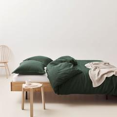 MARC O'POLO  Marc O'Polo bed linen | VALKA deep green | 100% linen