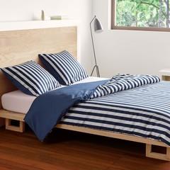 MARC O'POLO  CLASSIC STRIPE indigo blue   100% cotton satin
