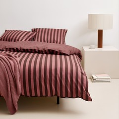 MARC O'POLO  CLASSIC STRIPE warm earth | 100%  Baumwoll Satin