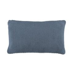 MARC O'POLO  NORDIC KNIT smoke blue   Pillow   Cotton knit