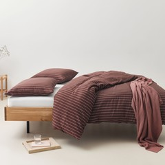MARC O'POLO  MULJI warm earth | 100%  garngefärbte Baumwolle