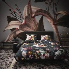ESSENZA - Inspirationen aus aller Welt! Bed linen FLEUR nightblue | 100% cotton satin